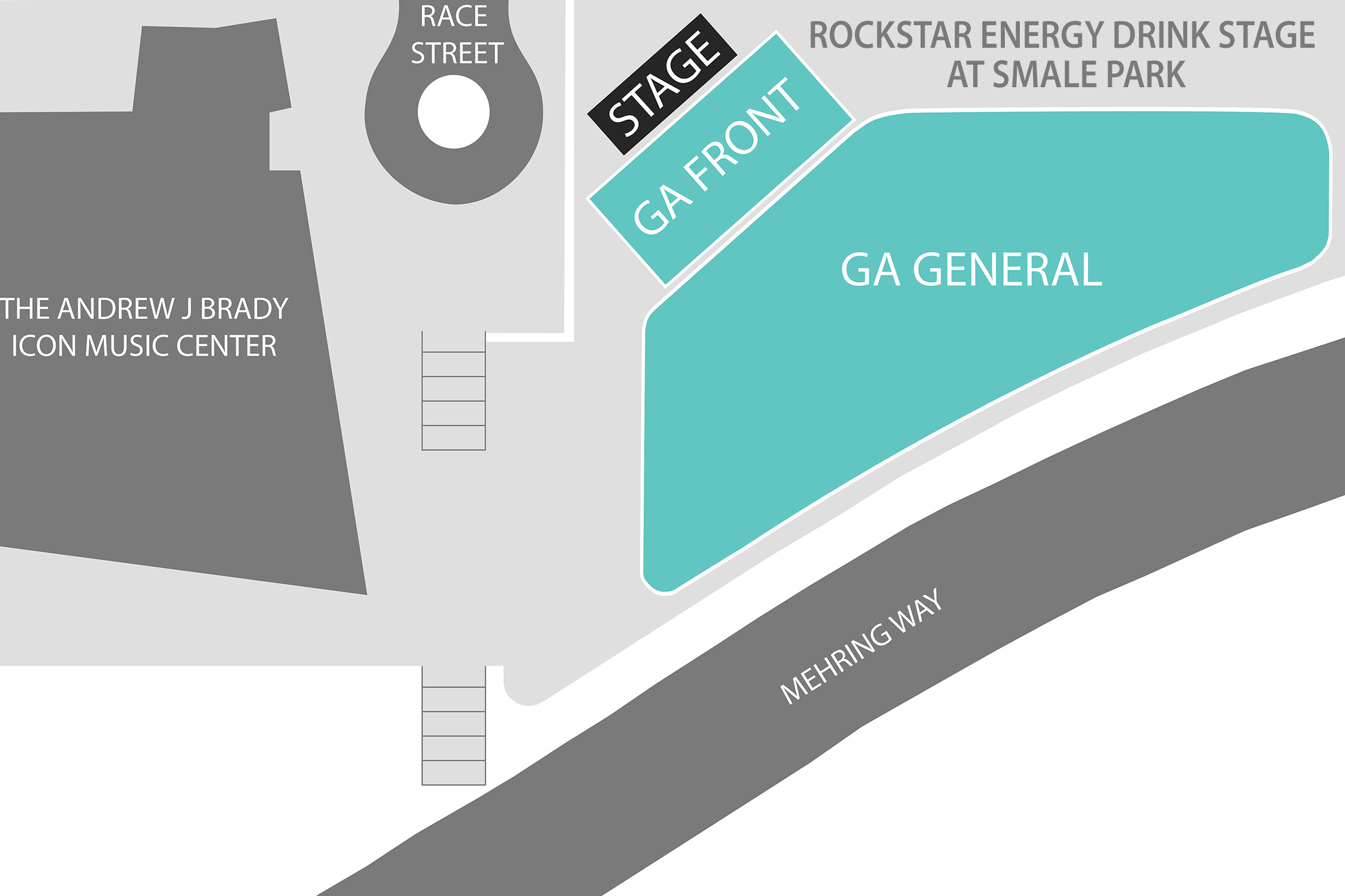 Rockstar Stage Energy Drink Stage at Smale Park - General Admission Front
